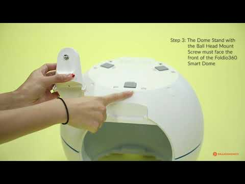 Foldio360 Smart Dome - How to Attach Dome Stand