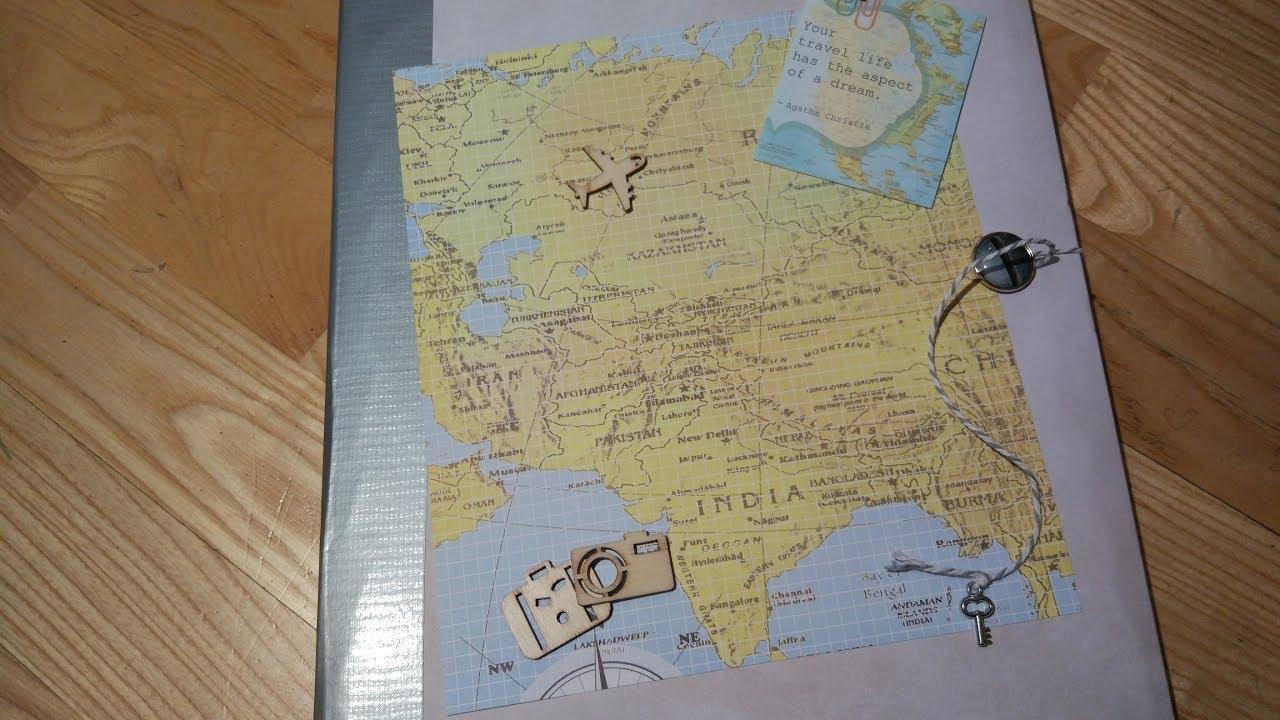 Travel Around The World Scrapbook Album Fotoalbum Basteln Mit