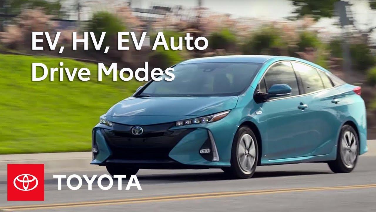 Toyota How To 2017 Prius Prime Ev Hv Auto Drive Modes
