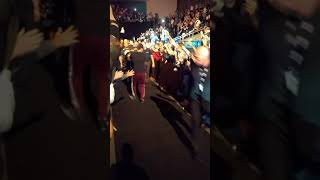 Выход Марка Ханта на бой на турнире UFC in Moscow