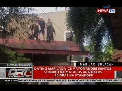 Dating Marilao Vice Mayor Andre Santos, sumuko na matapos ang halos 20 oras na standoff