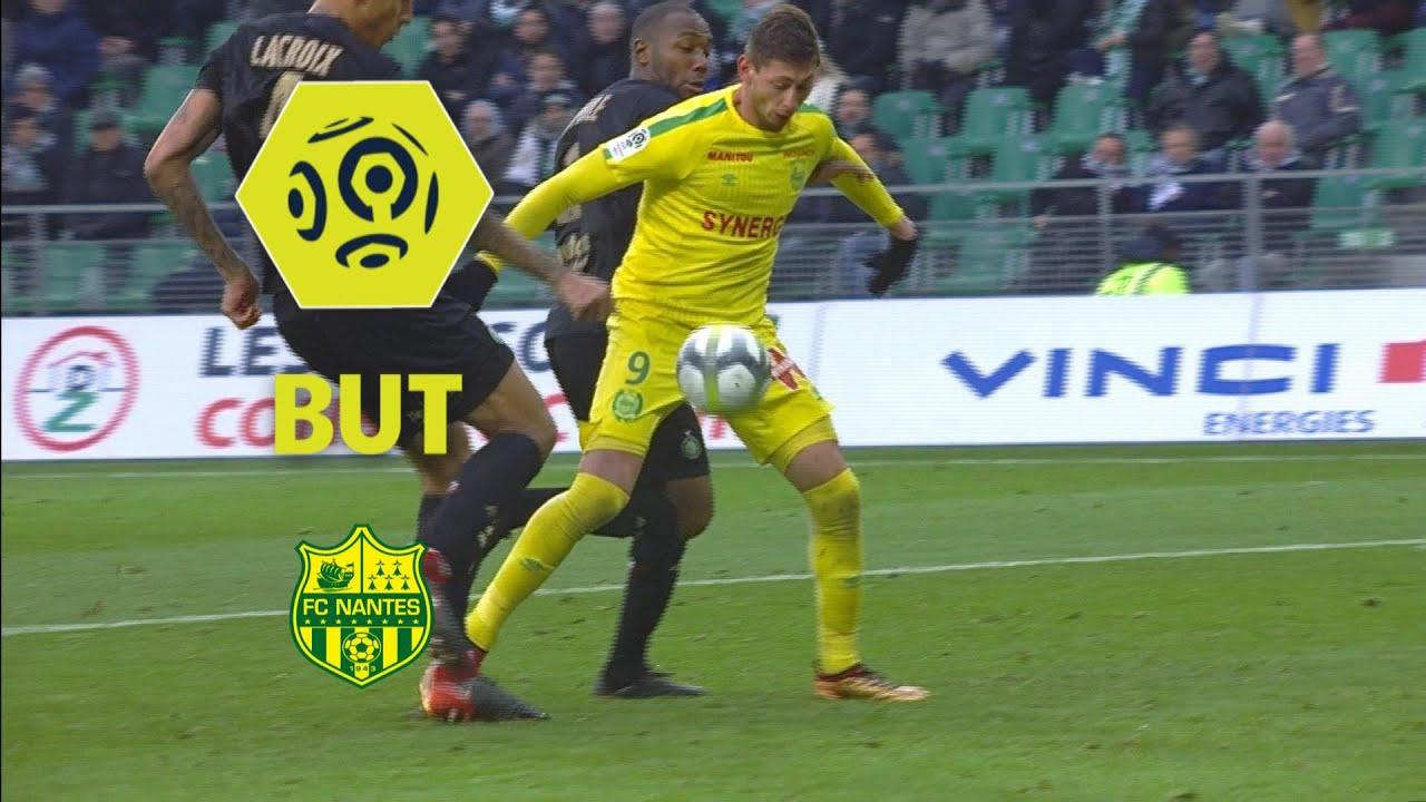 Coloriage Foot St Etienne.But Emiliano Sala 61 As Saint Etienne Fc Nantes 1 1 2017