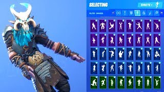 RAGNAROK STAGE 5 SKIN SHOWCASE CON TUTTI FORTNITE DANCES & EMOTES
