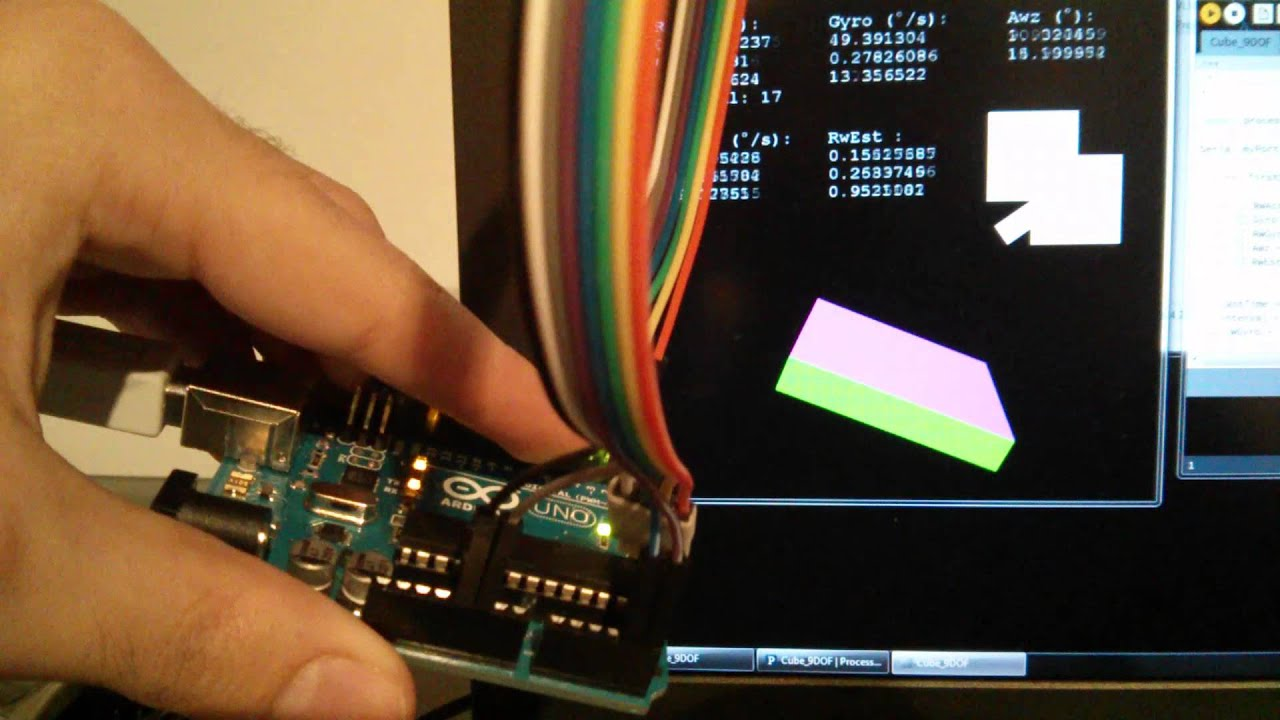 Arduino + GY85 + Processing