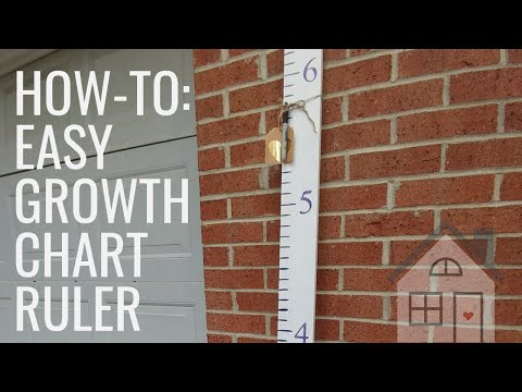 TUTORIAL: DIY Growth Chart Ruler | $8 Large Ruler | How to: Wooden Ruler Baby Shower Gift