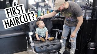 MAX VISITING DADDY AT THE BARBERSHOP + NEW INTRO