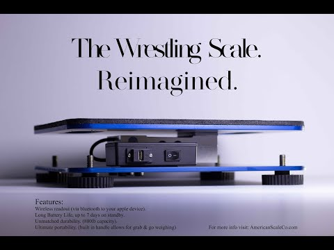 Weigh-In Scale By American Scale Co. - Wireless Wrestling Scale