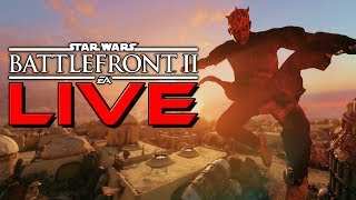 LIVE Star Wars Battlefront 2 - Epic level Heroes and Modded PC gameplay
