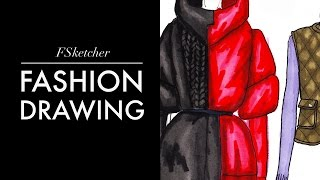 PUFFER JACKETS P.1 (Drawing)| Fashion Drawing