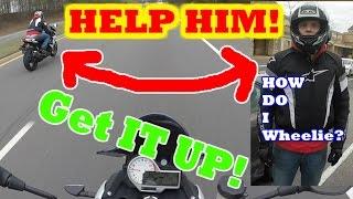 Learning to Wheelie | HELP my BOY Get it UP