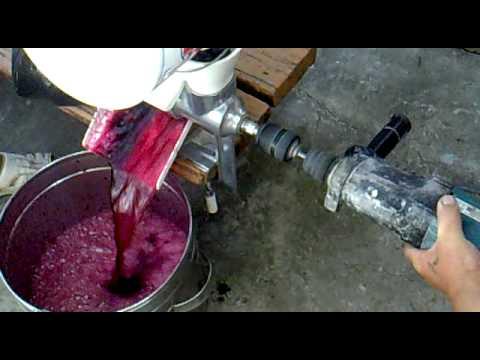 Сделать соковыжималку для винограда