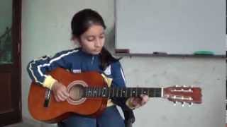 Neele neele ambar par acoustic guitar cover by Bhoomi