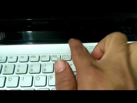 Factory Reset Sony Vaio Laptop : Part-1