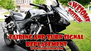 Honda CBR500R Fairing and Turn Signal Replacement