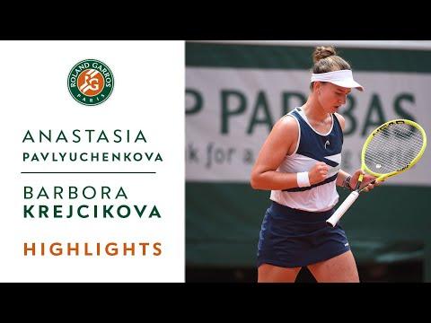Anastasia Pavlyuchenkova vs Barbora Krejcikova - Final Highlights I Roland-Garros 2021