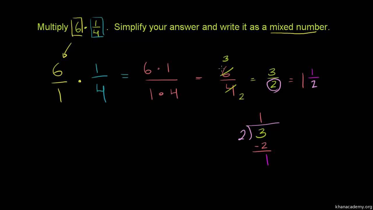 Πολλαπλασιασμός κλασμάτων και μεικτών αριθμών - YouTube d05c2110dee