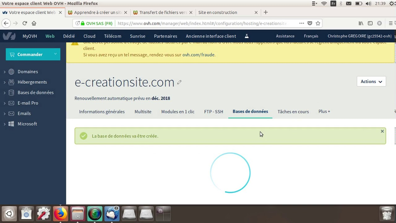Creer Une Base De Donnees Ovh Pour Wordpress Tuto 4 Youtube