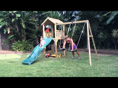 @staystrongmummy workout with swing set by Plum Play Australia