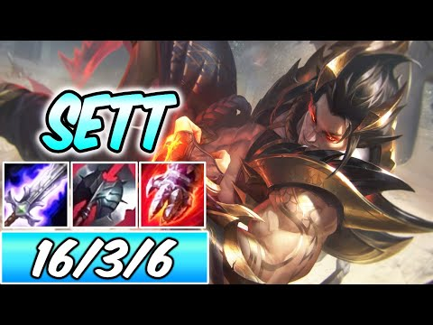 OBSIDIAN DRAGON SETT NEW SKIN   Best Build & Runes   Sett Top Gameplay   League of Legends