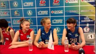 2014 AVC Women Volleyball U19 in Taipei: Kazakhstan Interview 3 #20 Sabina Altynbekova