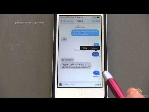 How to delete text thread on iphone 6