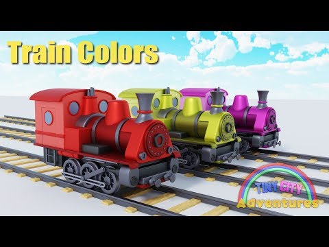 Learn Colors with the magic Train and steam locomotive