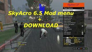 GTA 5 SKYACRO V6.5 MOD MENU FREE & SCRIPT BYPASS TU27 + DOWNLOAD
