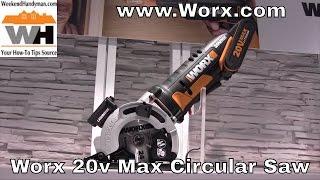 #WorxTools Worxsaw 20v Max Lithium Ion Compact Circular Saw | Wekend Handyman