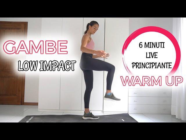 6 min GAMBE LOW IMPACT / WARM UP - No Equipment | Silvia Fascians