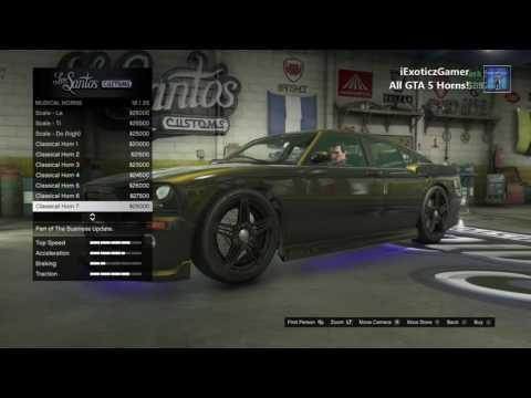 All GTA 5 Car Horns!