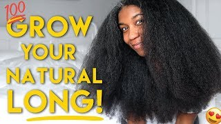 MY BEST TIPS to GROW LONG HEALTHY NATURAL HAIR  - Naptural85
