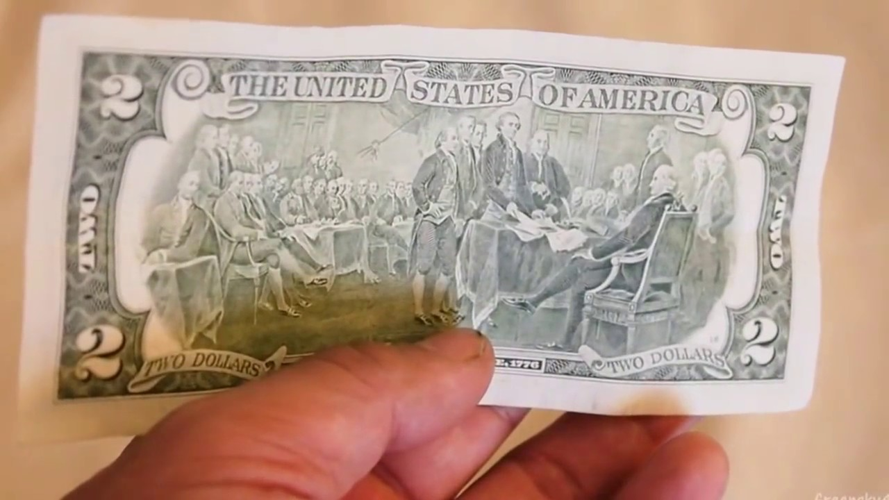What A Real 2 Dollar Bill Looks Like Paper Money American 2 Cash