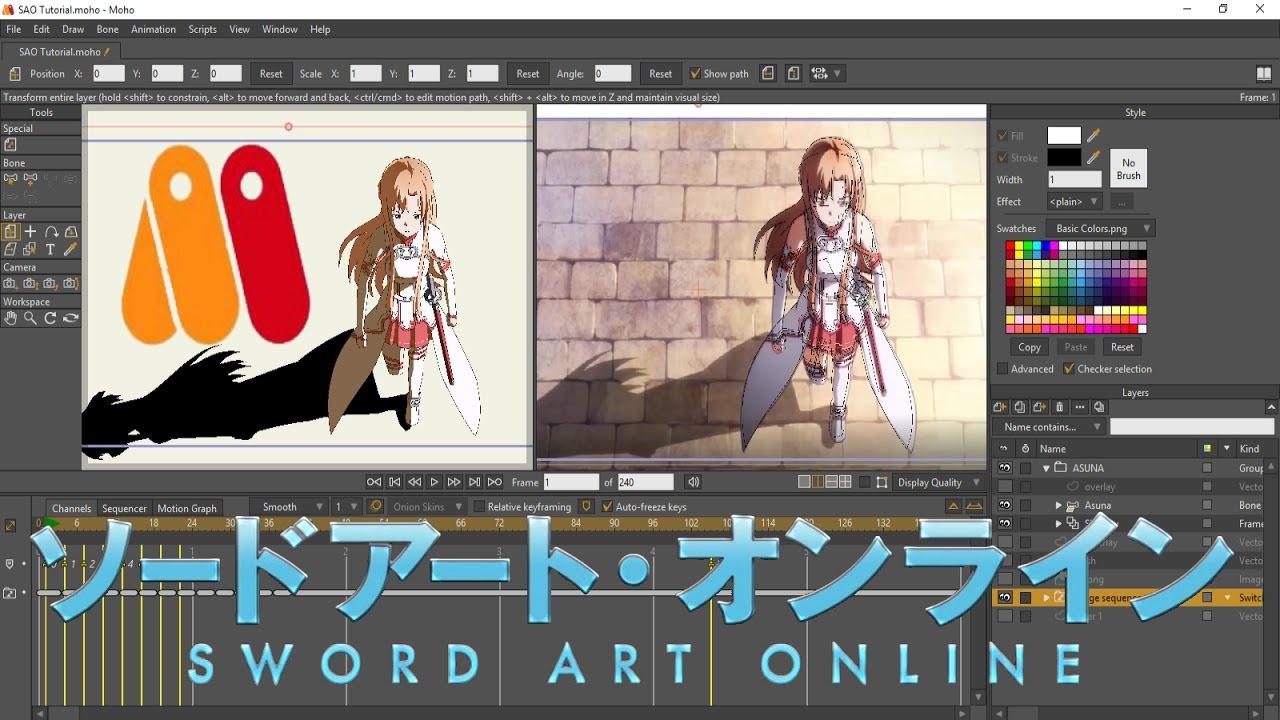 Sword Art Online Reanimated (Anime Studio Pro/Moho 12 Tutorial ...