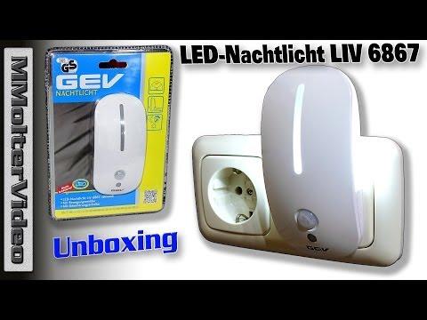 LED Nachtlicht LIV 6867 Unboxing und Test.