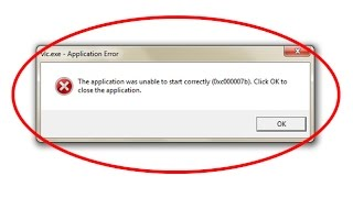 Fix Application Error-The application was unable to start correctly(0xc000007b) in windows 7/8/10