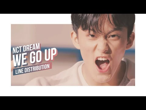 NCT DREAM - WE GO UP Line Distribution (Color Coded)   엔시티 드림
