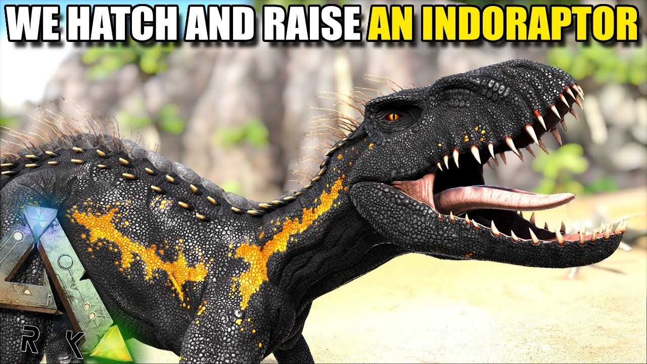 Repeat WE HATCH AND RAISE AN INDORAPTOR !! | STEAMPUNK | ARK