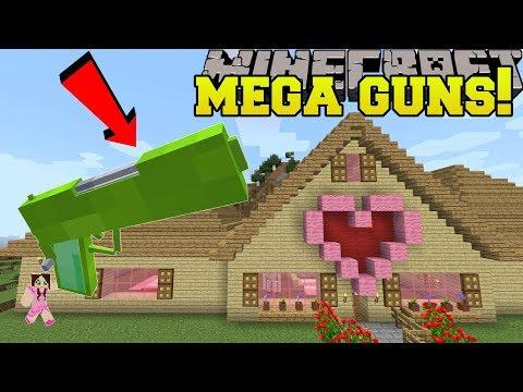 Minecraft: MEGA GUNS!!! (*OVERPOWERED* GIANT GUNS!)