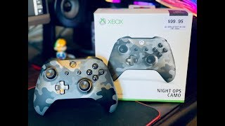 Xbox One Night Ops Camo Special Edition Wireless Controller Unboxing