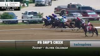 Jockey Watch: Oliver Calderon wins his first race June 20, 2021 at Churchill Downs