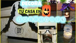 DIY/ ¡INCREÍBLES IDEAS PARA DECORAR TU CASA EN HALLOWEEN! (FÁCIL) Thumbnail