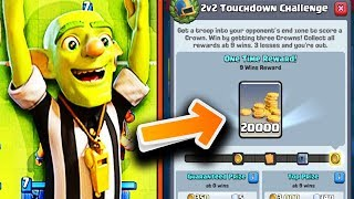 How to Get 9 Wins! Walkthrough!   2v2 Touchdown Mode is Back in Clash Royale
