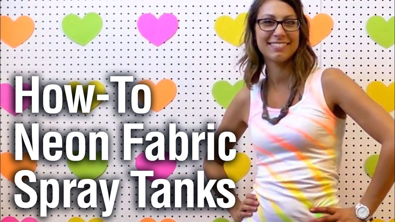 quick easy neon fabric spray shirt youtube. Black Bedroom Furniture Sets. Home Design Ideas