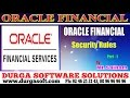 Oracle Finacial||online training||  Security Rules Part-1 by SaiRam