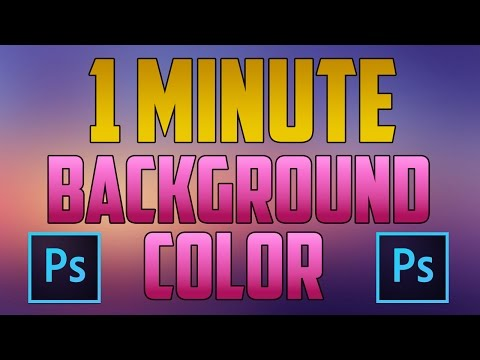Photoshop CC - How to Change Background Color