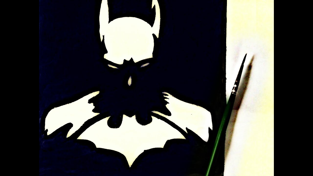 How To Draw Batman Painting Tutorial In Simple Easy Step By Step For Kids Drawing Batman Painting