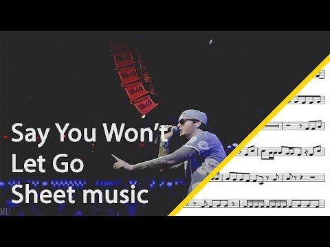 Say You Won't Let Go alto saxophone sheet music