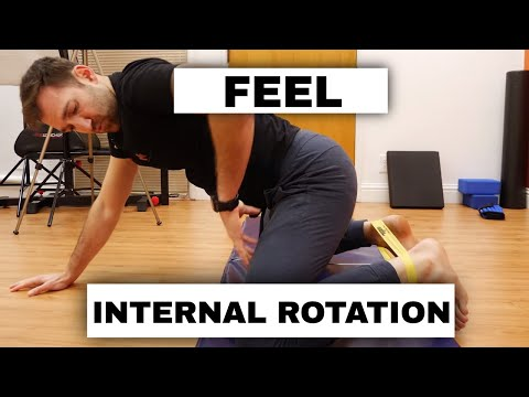 Hip Internal Rotation for Beginners. Activate correct muscles for internal rotation of the hip!