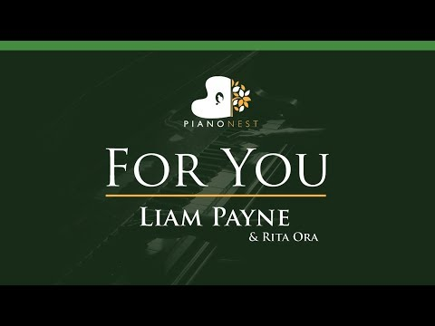 Liam Payne & Rita Ora - For You - LOWER Key (Piano Karaoke / Sing Along)