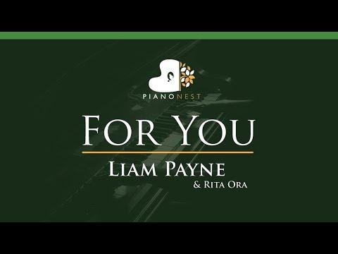 Liam Payne & Rita Ora - For You - LOWER Key (Piano Karaoke / Sing Along)